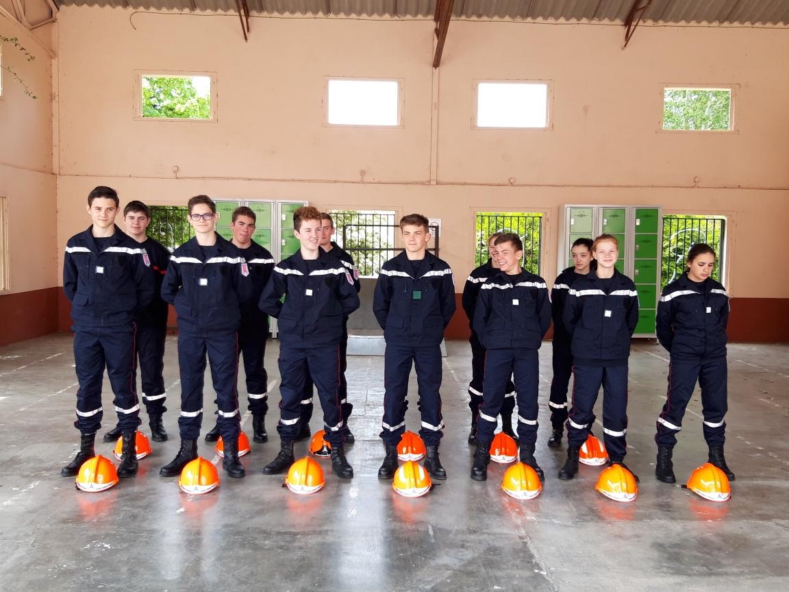 La section jeunes sapeurs-pompiers (JSP) fait la fierté du collège Sainte-Claire